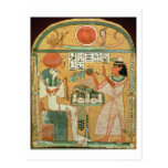 Ofenmut Offering to Osiris, Stele of Ofenmut from Postcard