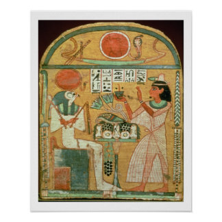 Ofenmut Offering to Osiris, Stele of Ofenmut from Poster