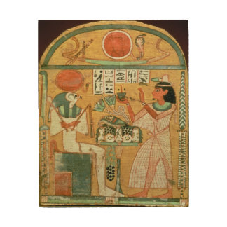 Ofenmut Offering to Osiris, Stele of Ofenmut from Wood Canvases
