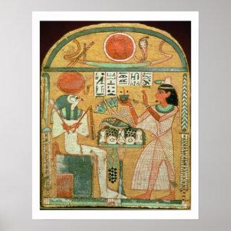 Ofenmut que ofrece a Osiris, Stele de Ofenmut de Impresiones