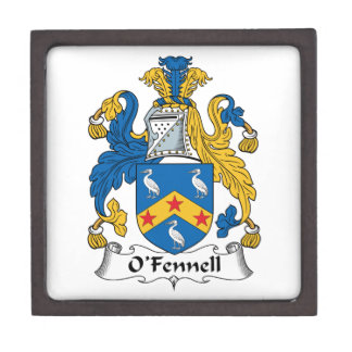 O'Fennell Family Crest Jewelry Box