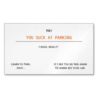 Ofensiva divertida que usted chupa en parquear tarjetas de visita magnéticas (paquete de 25)
