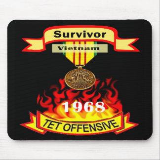 Ofensiva Mousepad de Vietnam Tet del superviviente Tapete De Raton
