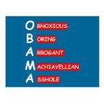 Ofensiva, Obama anti que insulta Postal