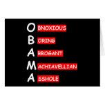 Ofensiva, Obama anti que insulta Tarjeta De Felicitación
