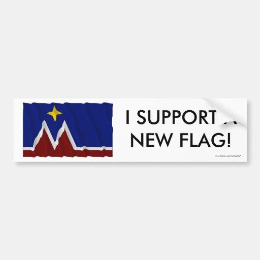 Oferta de la bandera de Montana que agita Pegatina Para Auto
