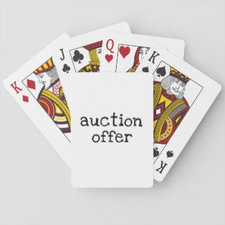 Oferta de la subasta baraja de póquer