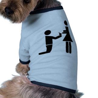 Oferta del boda camisetas mascota
