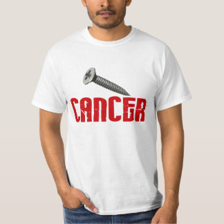 OFERTA ESPECIAL del cáncer $12,95 del tornillo Remeras