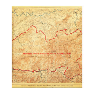 Oferta para el parque nacional de Great Smoky Moun Lona Estirada Galerias