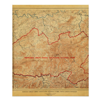 Oferta para el parque nacional de Great Smoky Moun Posters