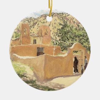Oferta Para San Esquipula by Walter Ufer Ceramic Ornament