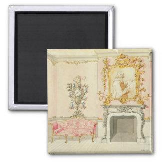 Oferta para un interior de la sala de estar, 1755- imán cuadrado