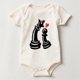 Oferta romántica intrépida para una reina traje de bebé