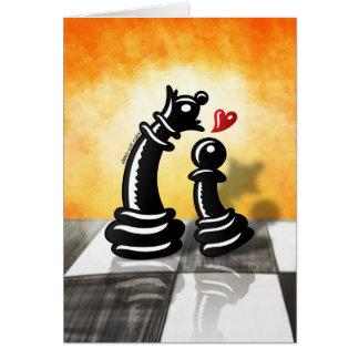 Oferta romántica intrépida para una reina tarjeta de felicitación