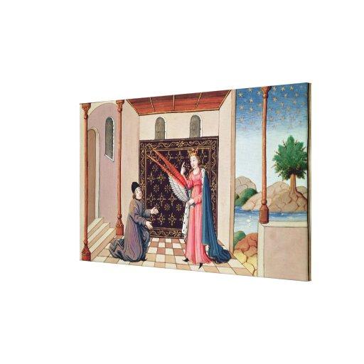 Ofertas de señora Philosophy a las alas de Boethiu Impresión En Lona