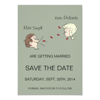 "Off-Beat ""Save the Date"" Card"