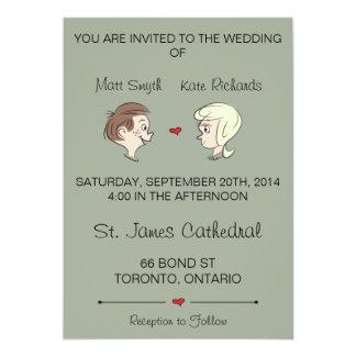 "Off-Beat ""Wedding Invitations"" Card"