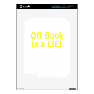 Off Book is a Lie Decals For iPad 3