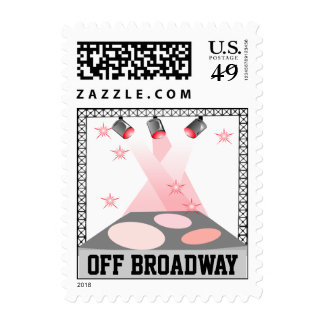 Off Broadway Stage Lights NYC Big Apple Stamps
