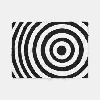 Off Center Black and White Target Fleece Blanket