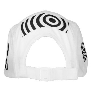 Off Center Black and White Target Hat