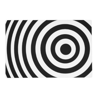 Off Center Black and White Target Placemat