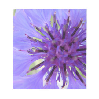 Off Center Purple Bachelor's Button Notepad