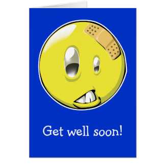 Off day smiley get well card