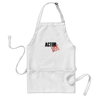 Off Duty Actor Adult Apron