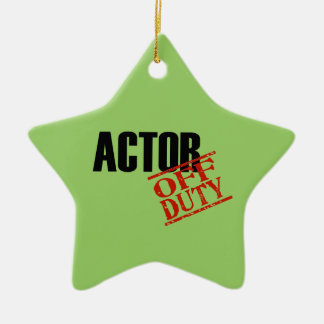 OFF DUTY Actor Double-Sided Star Ceramic Christmas Ornament