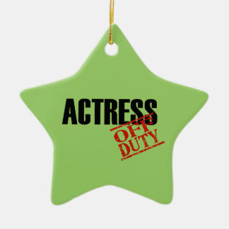 OFF DUTY Actress Double-Sided Star Ceramic Christmas Ornament