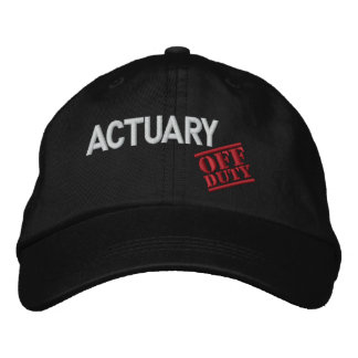 Off Duty Actuary Embroidered Baseball Cap