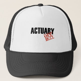 OFF DUTY ACTUARY LIGHT TRUCKER HAT
