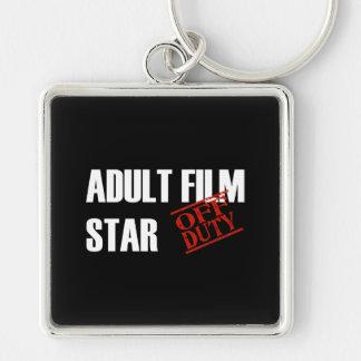 OFF DUTY ADULT FILM STAR DARK KEYCHAIN