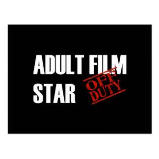 OFF DUTY ADULT FILM STAR DARK POSTCARD