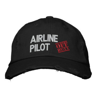 Off Duty Airline Pilot Embroidered Baseball Hat