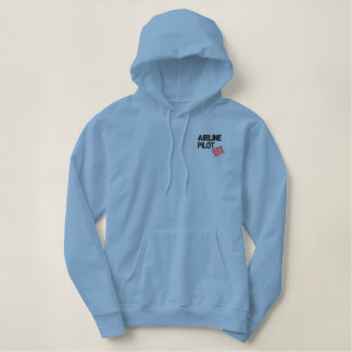 Off Duty Airline Pilot Embroidered Hoodie