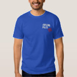 "Off Duty Airline Pilot Embroidered T-Shirt<br><div class=""desc"">Yes,  you work as an airline pilot.  But right now you&#39;re off duty.  On vacation.  It&#39;s the weekend.  YOUR DAY OFF!!!</div>"