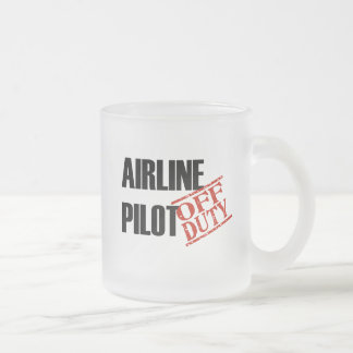 Off Duty Airline Pilot Frosted Glass Coffee Mug