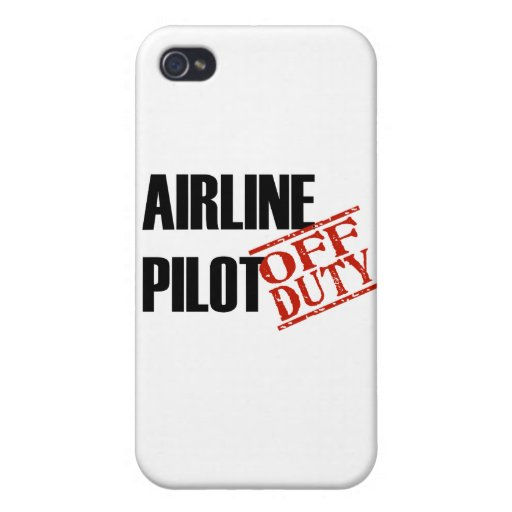 OFF DUTY Airline Pilot iPhone 4/4S Case