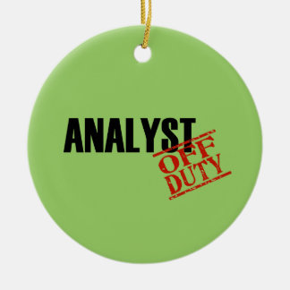 OFF DUTY Analyst Double-Sided Ceramic Round Christmas Ornament