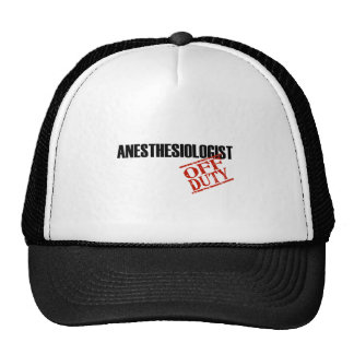 OFF DUTY ANESTHESIOLOGIST LIGHT TRUCKER HAT