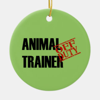 OFF DUTY Animal Trainer Double-Sided Ceramic Round Christmas Ornament