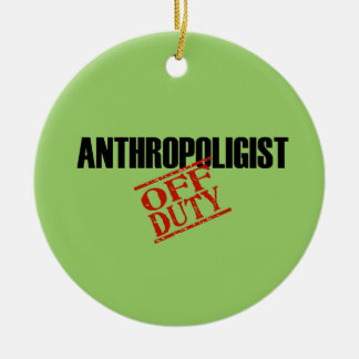 OFF DUTY Anthropologist Double-Sided Ceramic Round Christmas Ornament