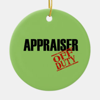 Off Duty Appraiser Double-Sided Ceramic Round Christmas Ornament