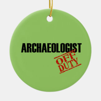 Off Duty Archaeologist Double-Sided Ceramic Round Christmas Ornament