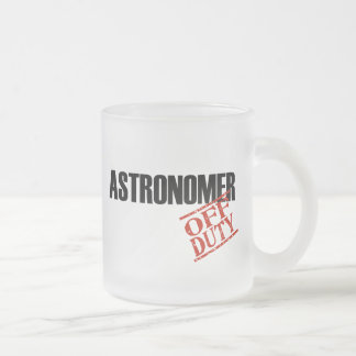 Off Duty Astronomer Frosted Glass Coffee Mug