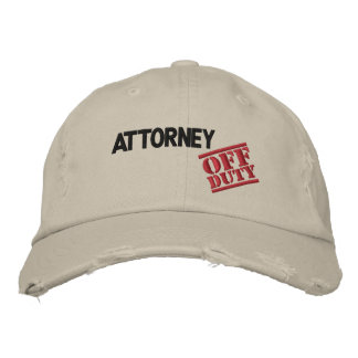 Off Duty Attorney Baseball Cap