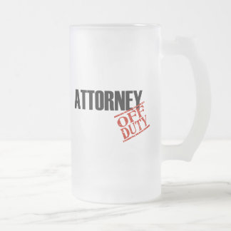 Off Duty Attorney 16 Oz Frosted Glass Beer Mug